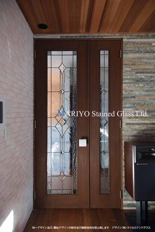 親子ドア ステンドグラス画像 B48-7B4P10LP