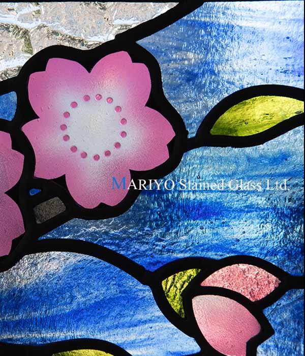ステンドグラス 桜 部分画像