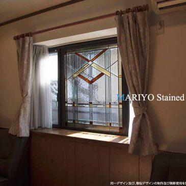 出窓 ステンドグラス 施工例