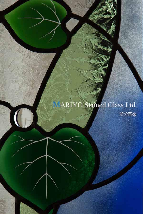 スミレのステンドグラス葉っぱ部分画像
