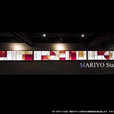 焼き肉店 横長ステンドグラス 6.4m|店舗内装工事