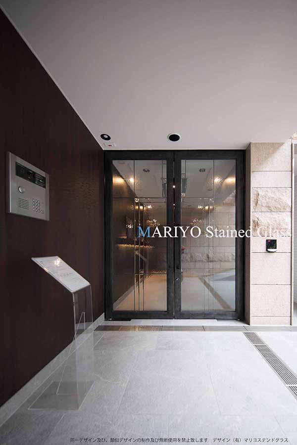 マンションのステンドグラス パースシティ東五反田3