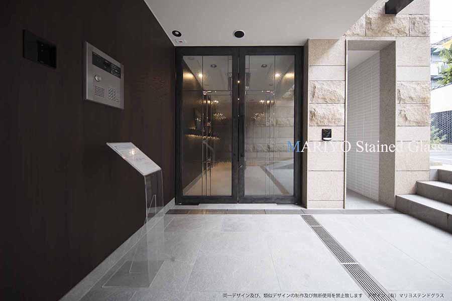 マンションのステンドグラス パースシティ東五反田1