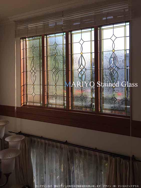 宮崎県ステングラス連窓施工例画像