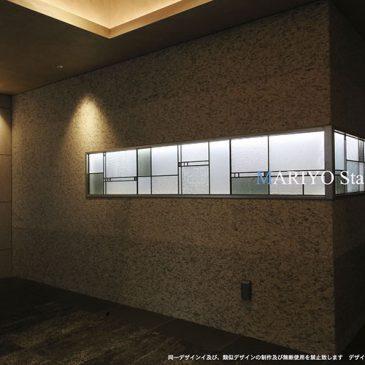 マンション 内照式ステンドグラス