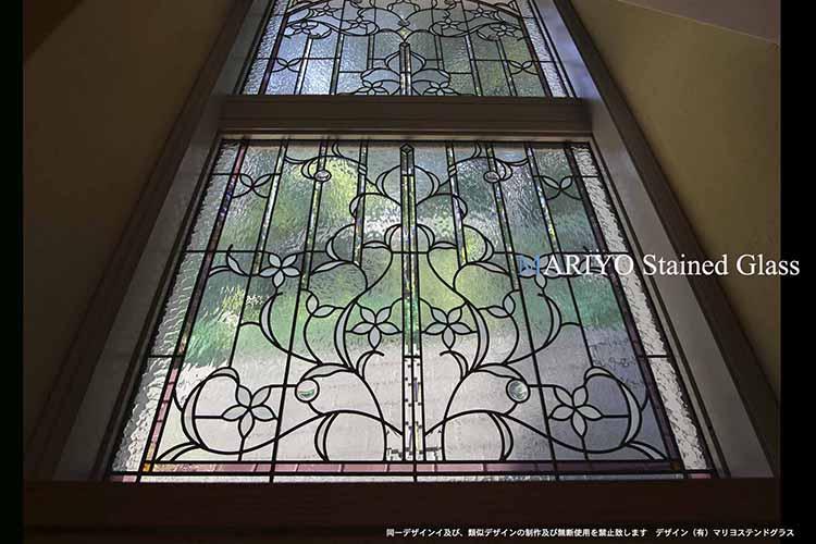 作家ブログ 成城の家ステンドグラス 画像1