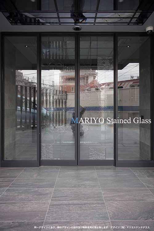 自動ドアステンドグラス 外観 パースシティ