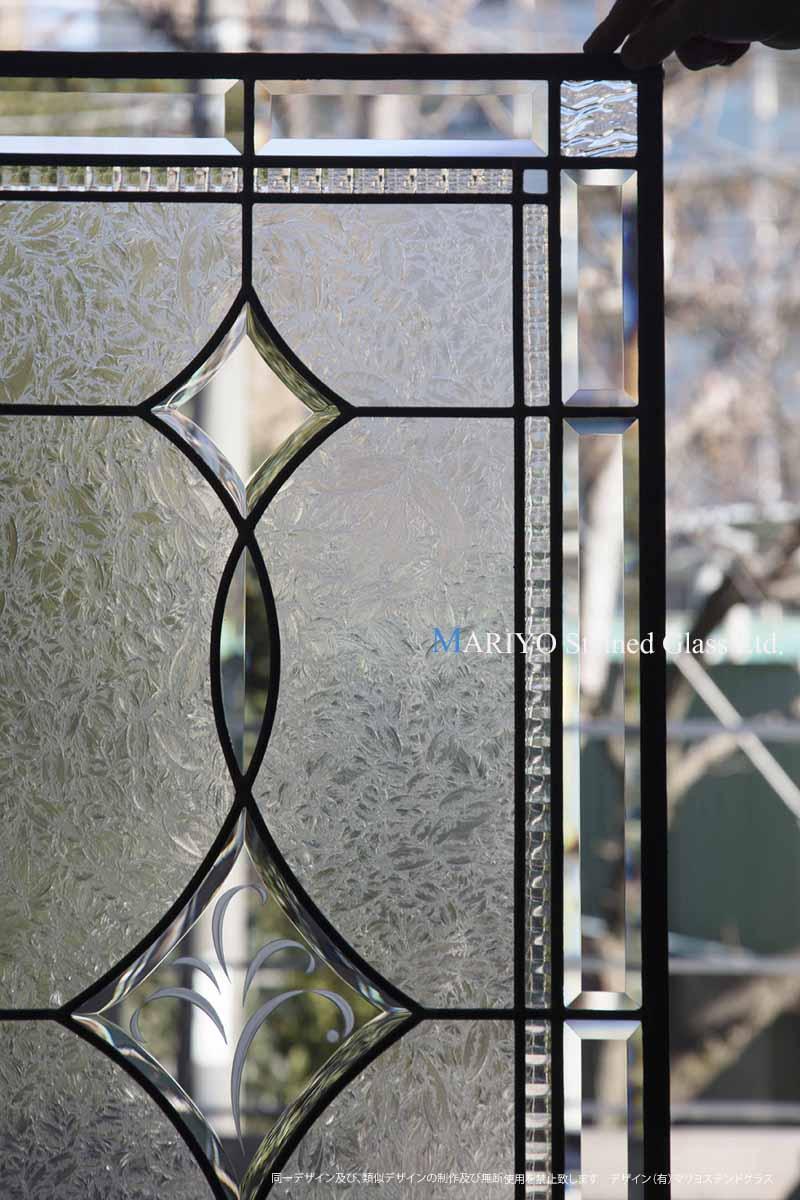 ステンドグラス(新潟) 親子ドア B45-15B2LP1E 部分