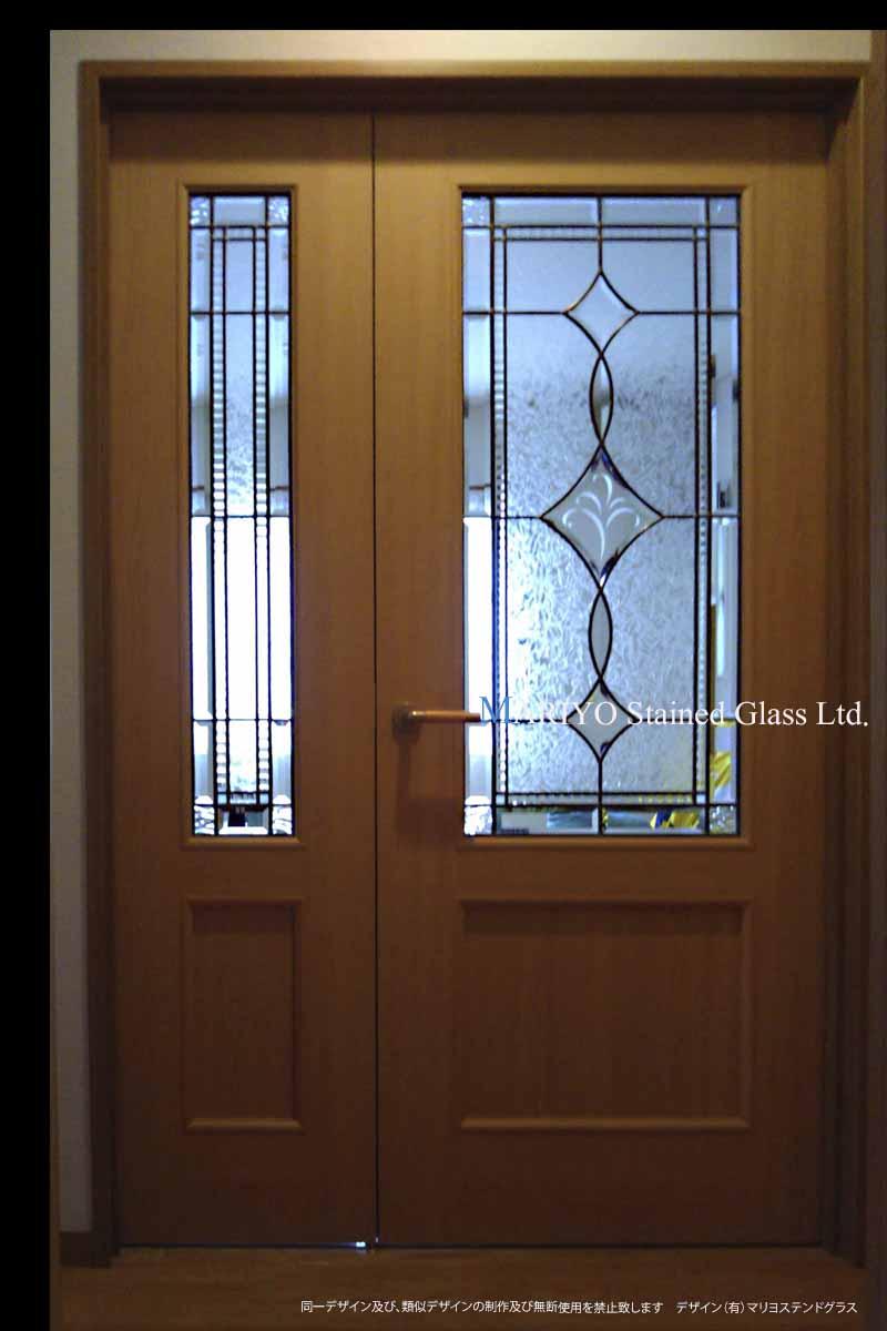 ステンドグラス(新潟) 親子ドア B45-15B2LP1E