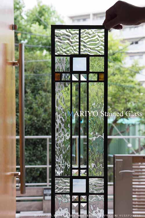 山形県 若竹町の家のステンドグラス AB37-4LP8J 部分画像