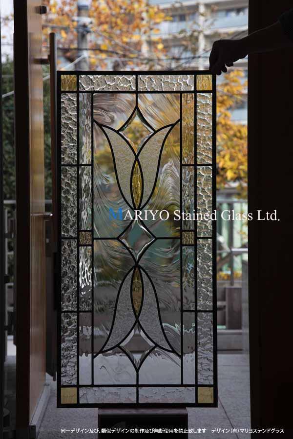 ドア用ステンドグラス B44-3B 工房画像