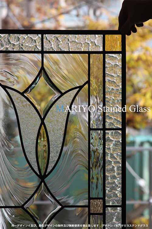 ドア用ステンドグラス B44-3B 工房画像部分
