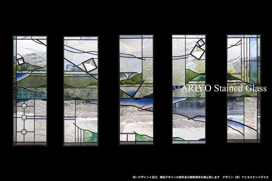 ステンドグラス 宮城県の家