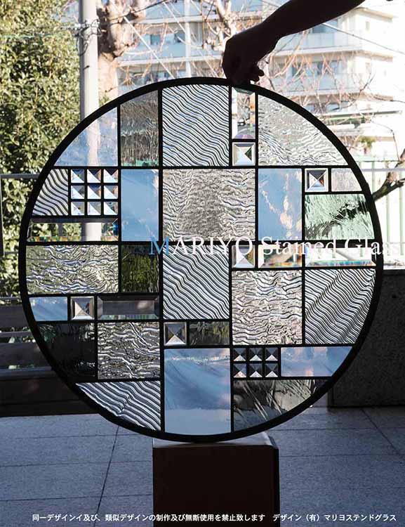 円形ステンドグラス 700φ 丸窓(沖縄)1