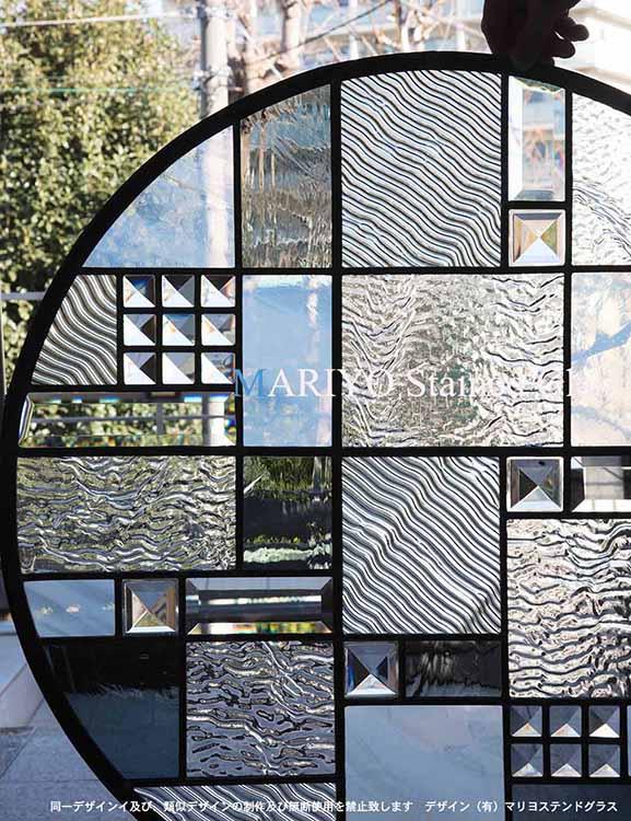 円形ステンドグラス 700φ 丸窓(沖縄)2