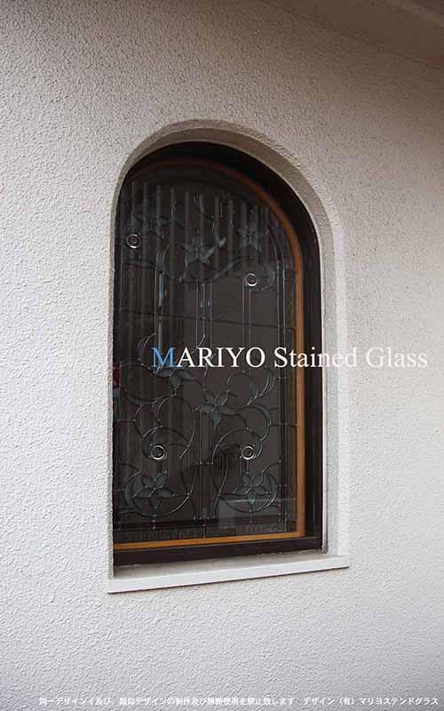 アーチステンドグラス窓(大阪)外観
