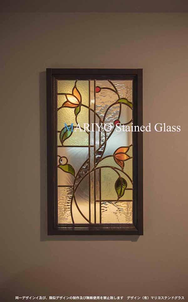 小さい花のステンドグラス トイレ C52-5LP1J4E ブログ