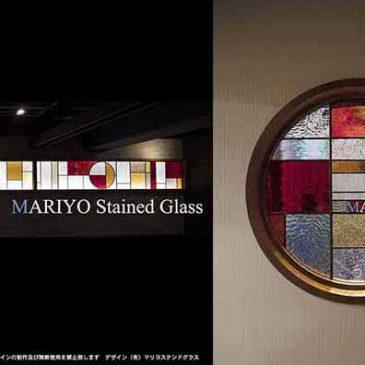 焼き肉店 横長ステンドグラス 6.4mと丸窓|店舗内装工事