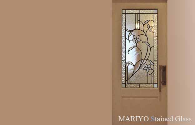 ドア用のステンドグラス