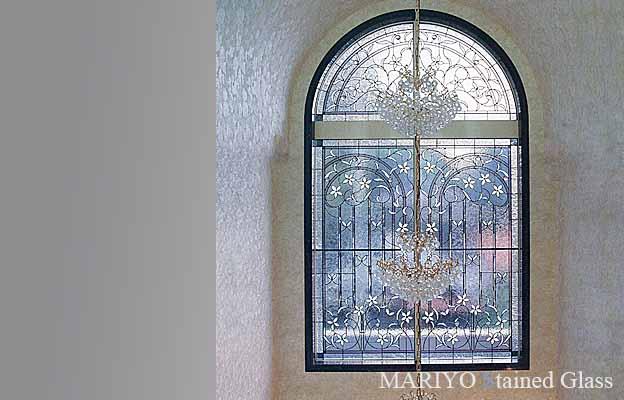 住宅窓のステンドグラス